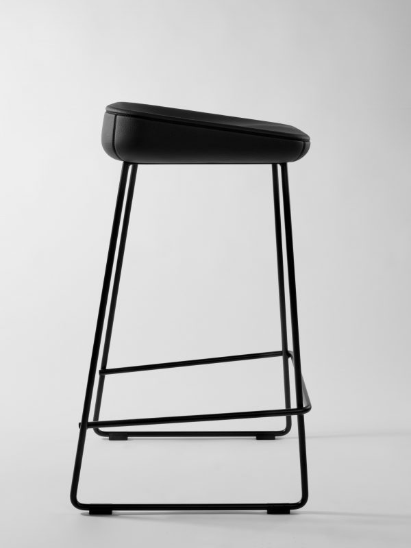 Leather Counter Stool Wave