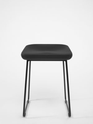wave leather stool front